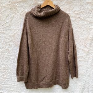 Eileen Fisher Brown Turtleneck Alpaca Sweater